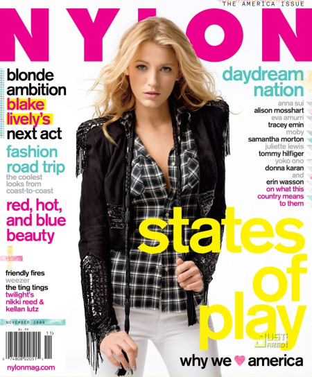 Blake Lively on the cover of NYLON