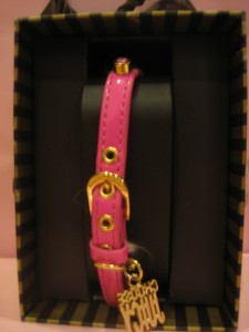 Pink and Gold Juicy Couture Dog Collar