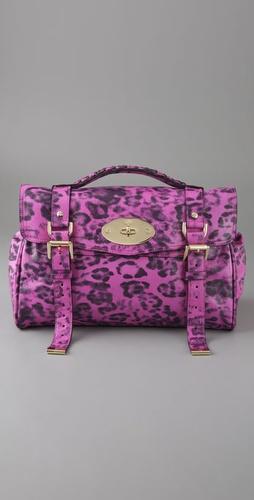 Mulberry Pink animal print handbag