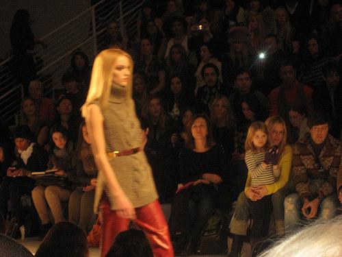 Hot Leather Pants Jill Stuart New York Fashion Week