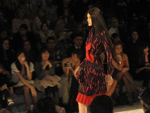 Jill Stuart red wrap dress