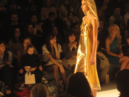 Jill Stuart Gold Runway Fashion Show