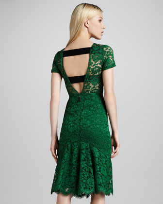 Green Burberry Prorsum Dress
