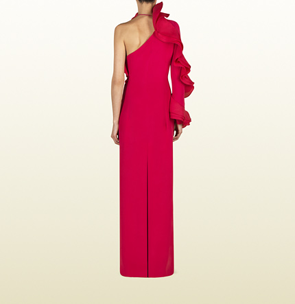 Gucci Red Ruffle dress Spring 2013