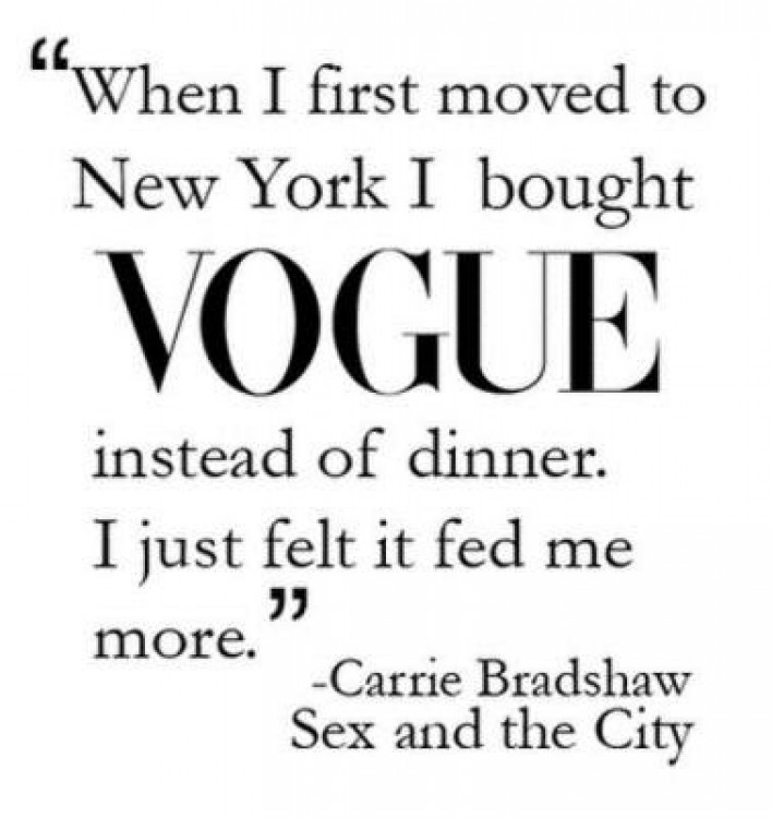 Carrie Bradshaw Loves Fashion Sex and the City