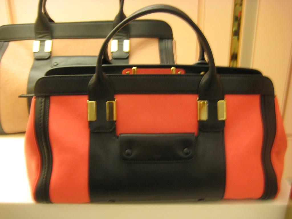 Chloe Coral Medium Alice Handbag