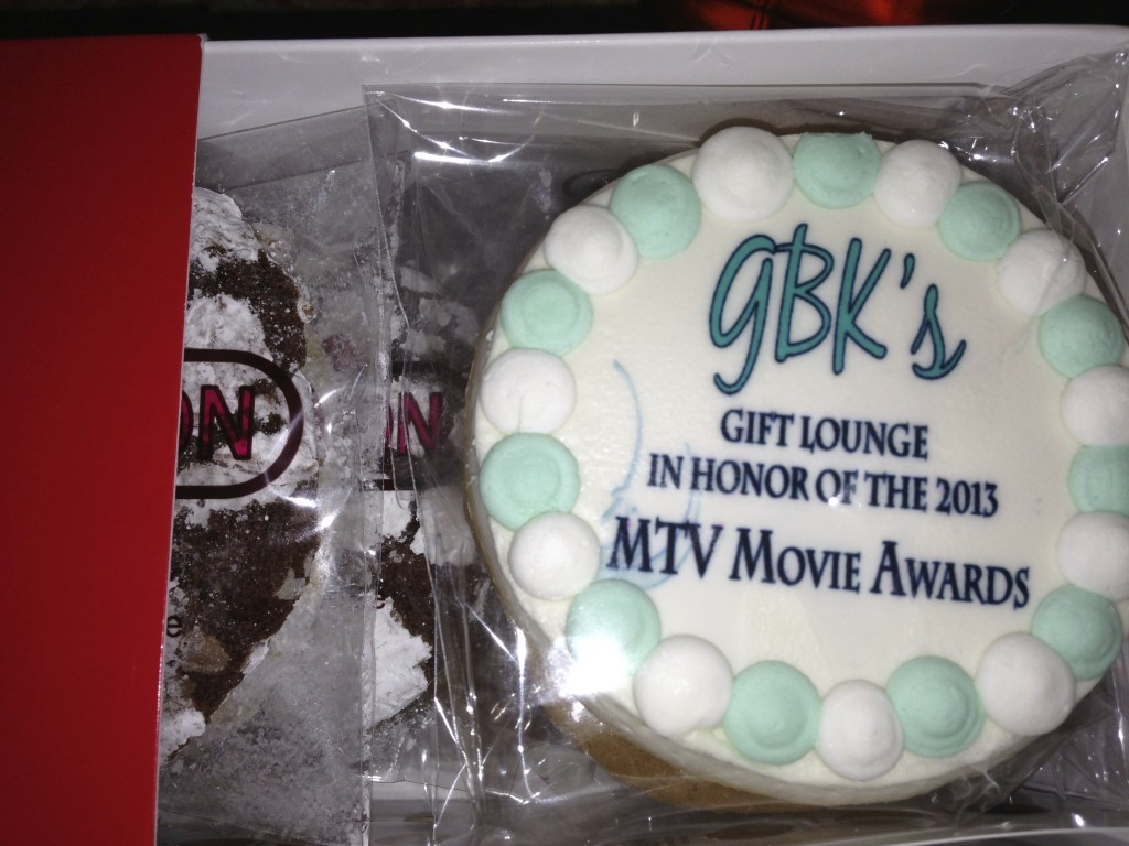 GBK MTV Movie Awards Gift Lounge Cookie Connection Logo Cookies