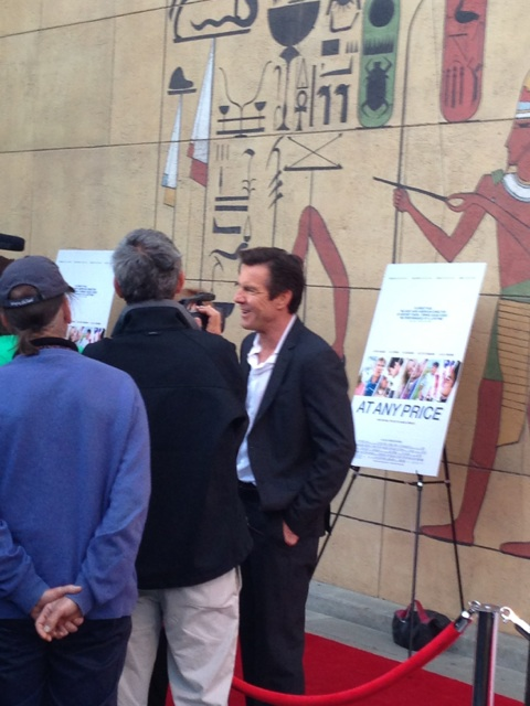 Dennis Quaid at the Egyptian Theatre for the Hollywood movie premiere of At Any Price