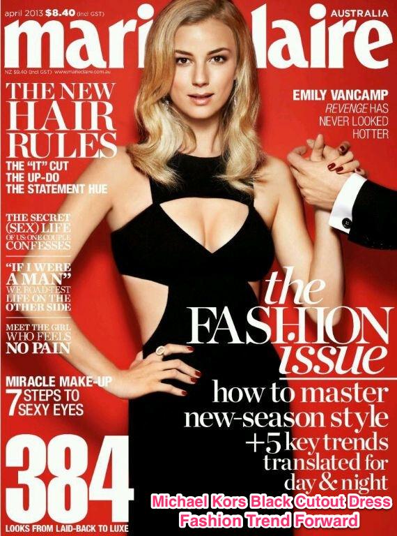 Gwyneth Paltrow wears Michael Kors black cut out dress