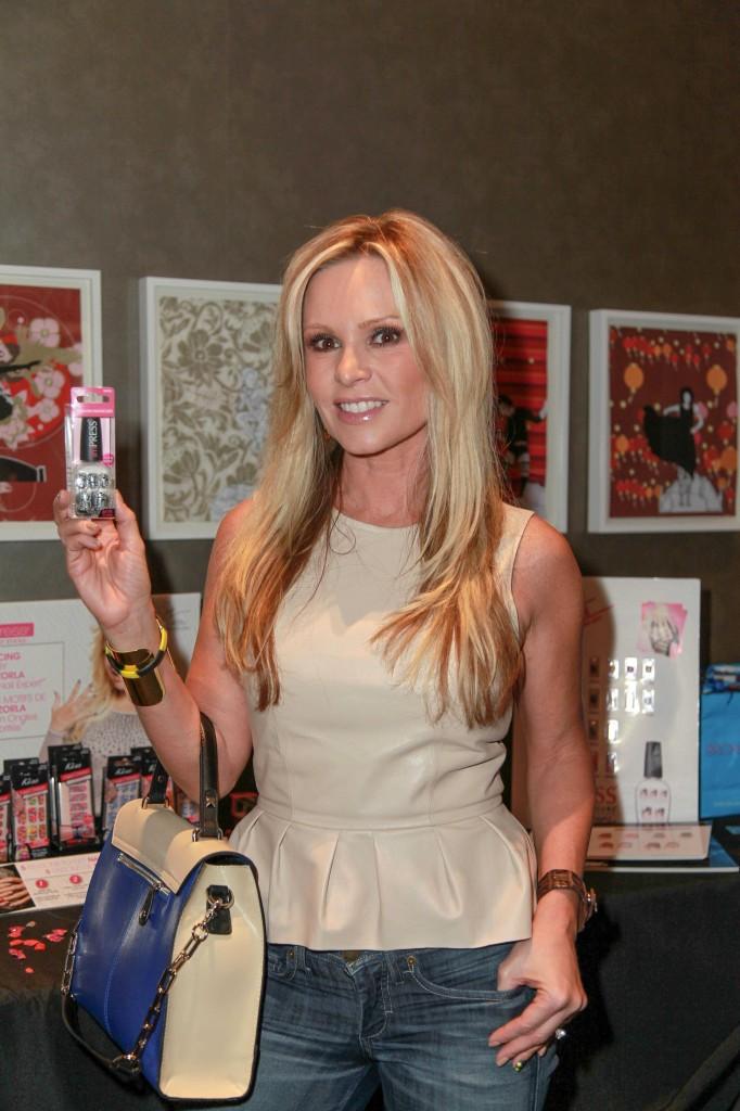 Tamara Barney Shows off Impress Press on Manicure