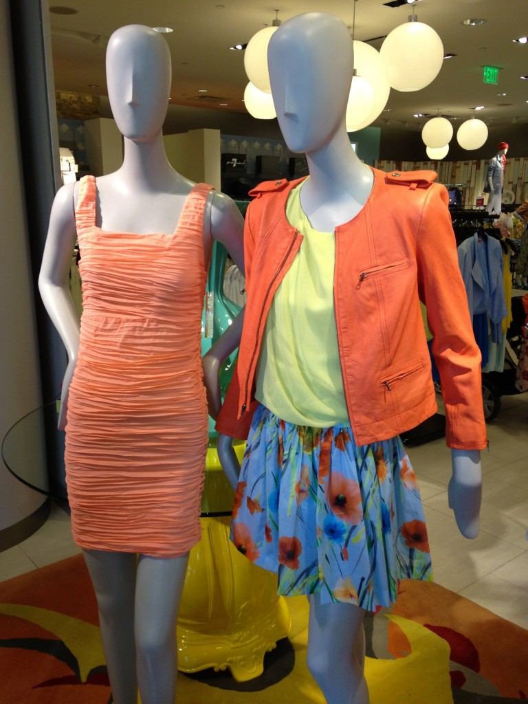 Floral light blue skirt Alice and Olivia Cam Biker Sleeve Leather Jacket in Orange! Orange/ Coral Fashion Trending Dress