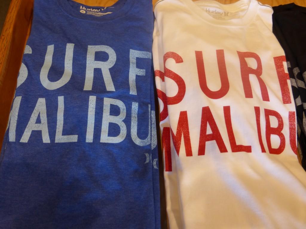 Surf Malibu Hurley T Shirts at the Malibu Country Mart
