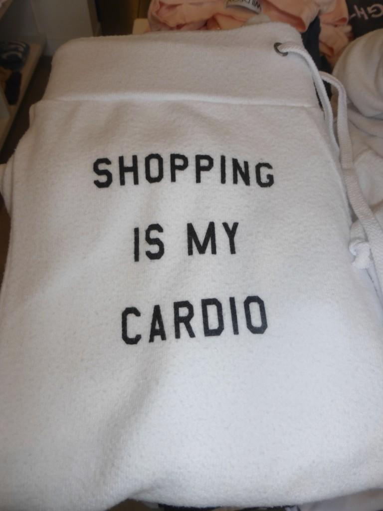 Shopping is My Cardio White Sweatpants From Kitson Malibu