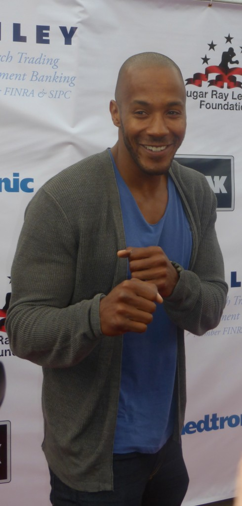 McKinley Freeman of Hit the Floor poses on the red carpet at the Big Fighter Big Cause 4th Annual Charity Fight Night