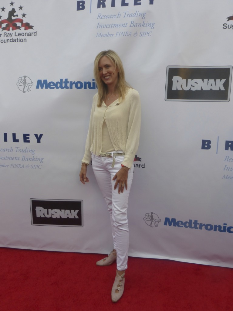 Stacey Mathewson at the Sugar Ray Leonard at the Big Fighters Big Cause Charity Fight Night Benefiting the Sugar Ray Leonard Foundation