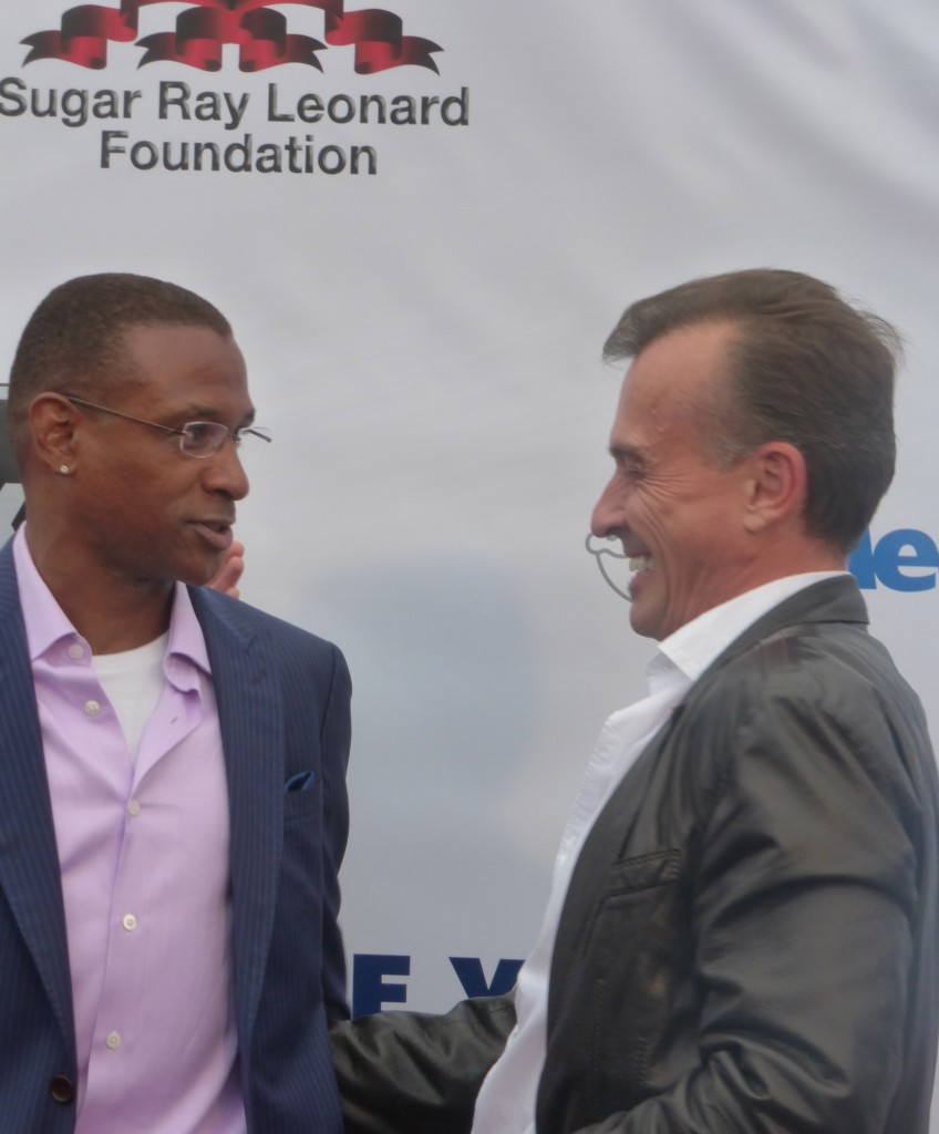 Tommy Davidson and the cults Robert Knepper at The Sugar Ray Leonard Foundation Charity Fight Night