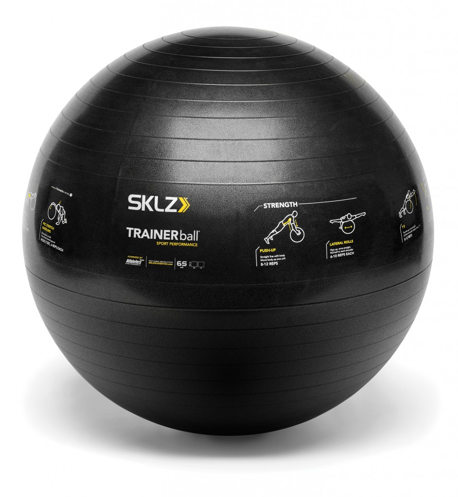 Learn how to get flat abs SKLZ Trainer Ball with how to exercise Illustrations