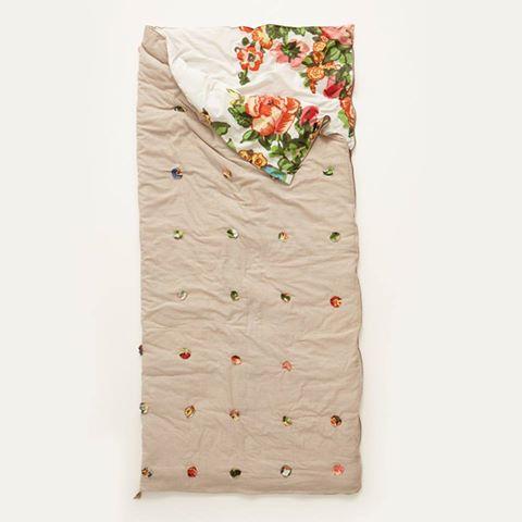 Anthropologie Florabunda sleeping bag for in style camping trends