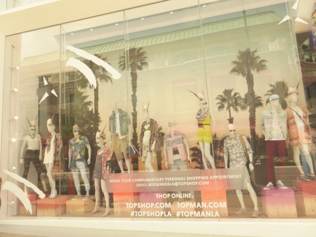 Summer 2013 TopShop at the Grove Style Summer Trends Window Displays